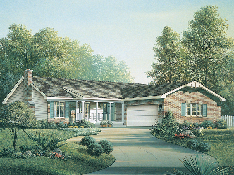 Country House Plan Front of Home - 008D-0010 | House Plans and More