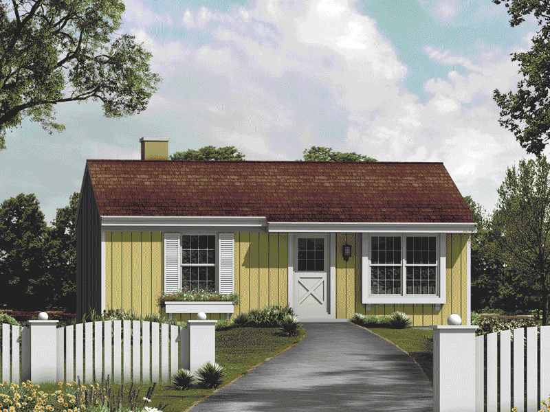 Small Ranch House Plans simple front porch simple farmhouse three bays simple but elegant this small ranch looks Small Functional Country Ranch Home