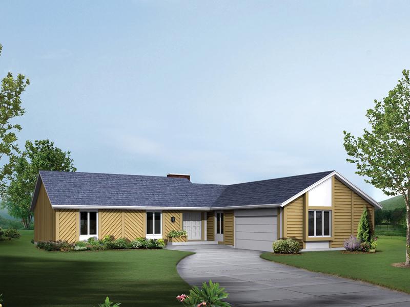 Contemporary Ranch Home With Tudor Hint