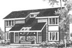 Contemporary Multi-Family Home Plan