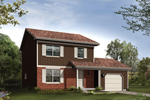 Compact Two-Story Homw With Country Design