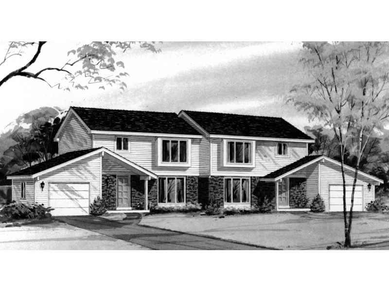 Multi-Family House Plan Front of Home - 008D-0031 | House Plans and More