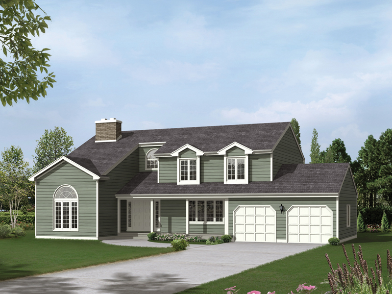 Traditional House Plan Front of Home 008D-0044