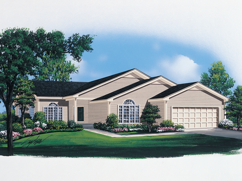 Ranch House Plan Front of Home - 008D-0063 | House Plans and More