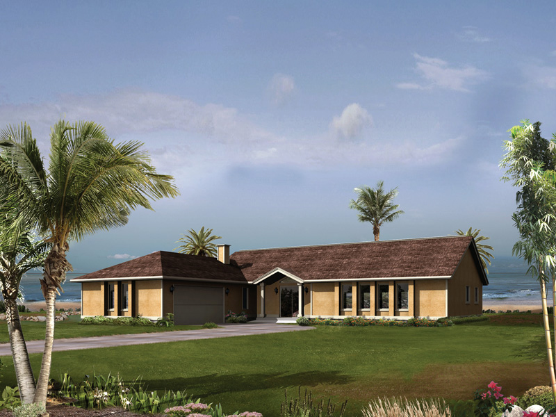 Florida House Plan Front of Home 008D-0064