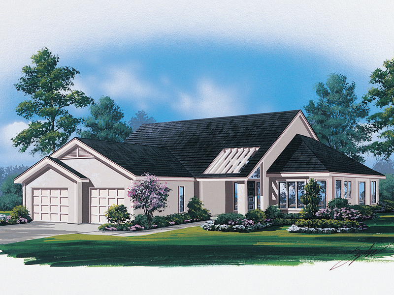 Modern House Plan Front Image - 008D-0066 | House Plans and More