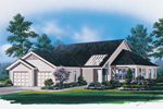 Sunbelt Home Plan Front Image - 008D-0066 | House Plans and More