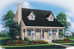 Acadian Country Home With Enjoyable Dormers