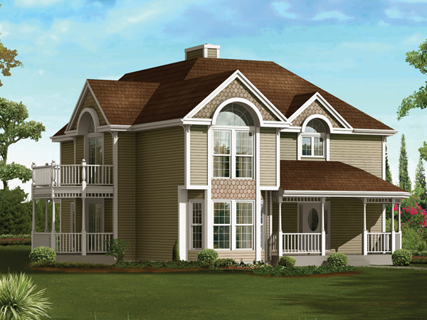 Majesty victorian home plan 008d 0075 house plans and more for Two story victorian house plans