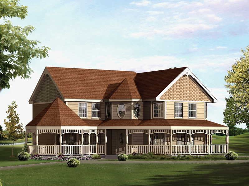 Wexford Country Victorian Home Plan 008d 0077 House