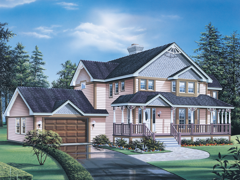 Country House Plan Front of Home 008D-0079