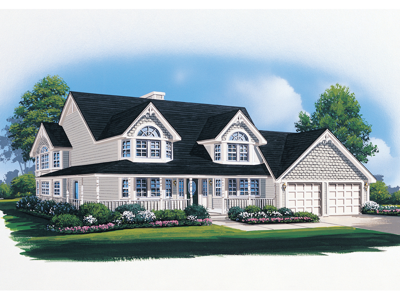Traditional House Plan Front of Home - 008D-0081 | House Plans and More