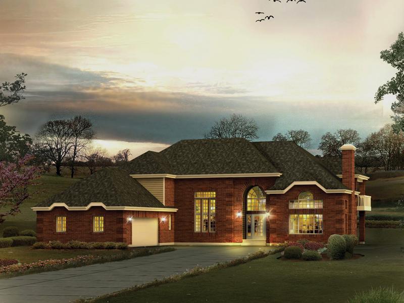 Majestic Home With Elaborate Birck Exterior And Corner Quoins