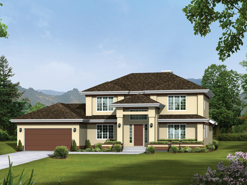 Southwestern House Plan Front of Home 008D-0087