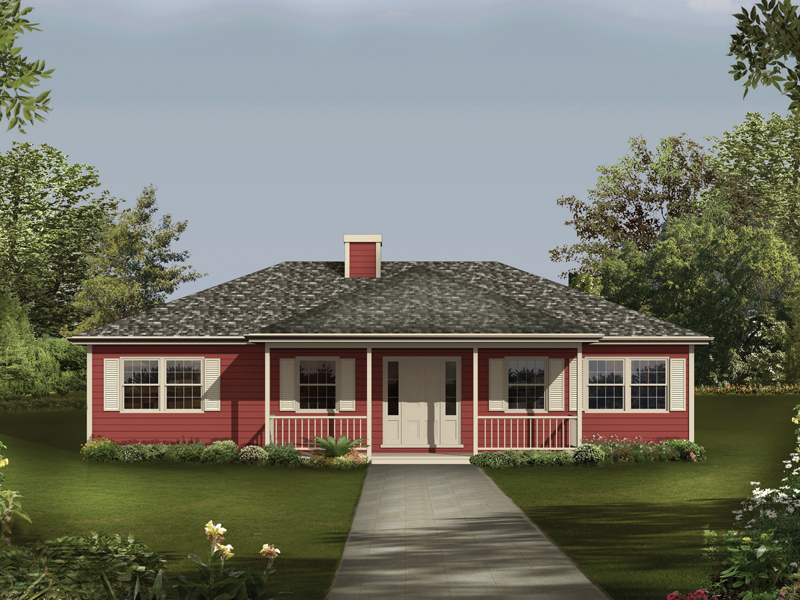 Home With Covered Front Porch