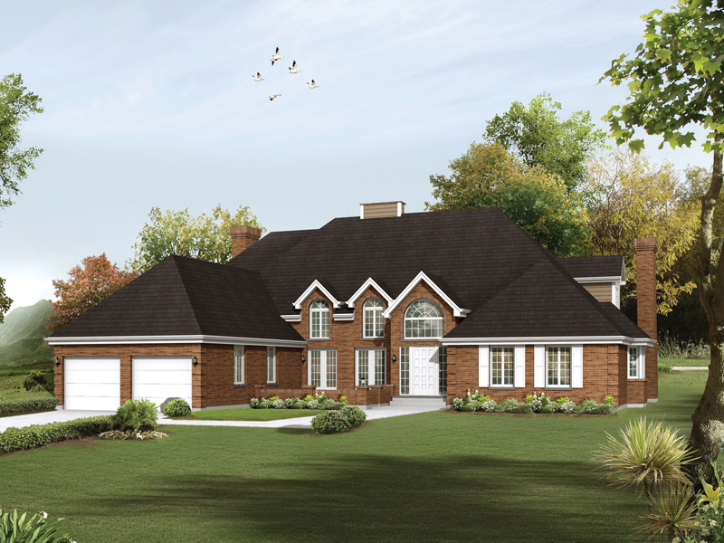 Luxury House Plan Front of Home 008D-0095
