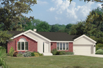 Ranch House Plan Front of Home - 008D-0103 | House Plans and More