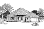 Expansive Roofline And Sophisticated Entrance