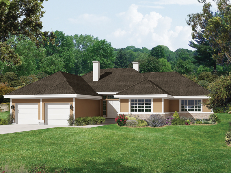 Ranch Home With Simple Prairie Lines And Overhanging Roof