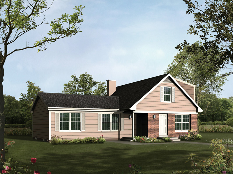 Traditional House Plan Front of Home 008D-0118