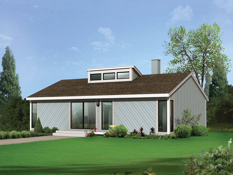 Vacation Home Plan Front of Home 008D-0144