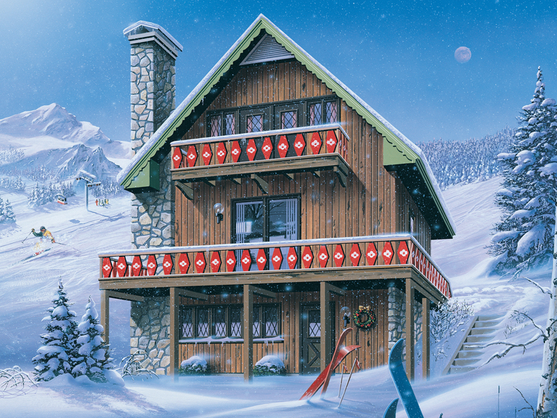 inglewood ski chalet home plan 008d-0150 | house plans and more
