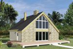 Stone Front A-Frame Home 