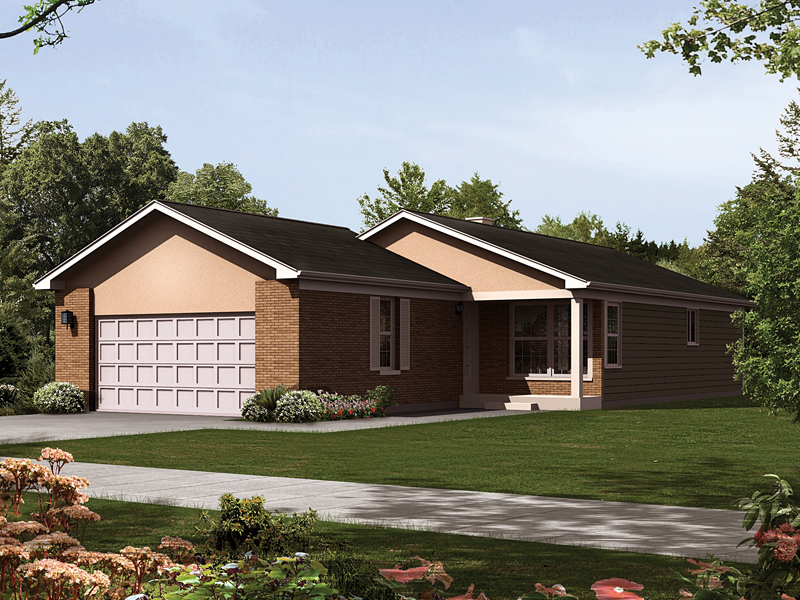 House plans with front load garage house design plans for Front garage house plans