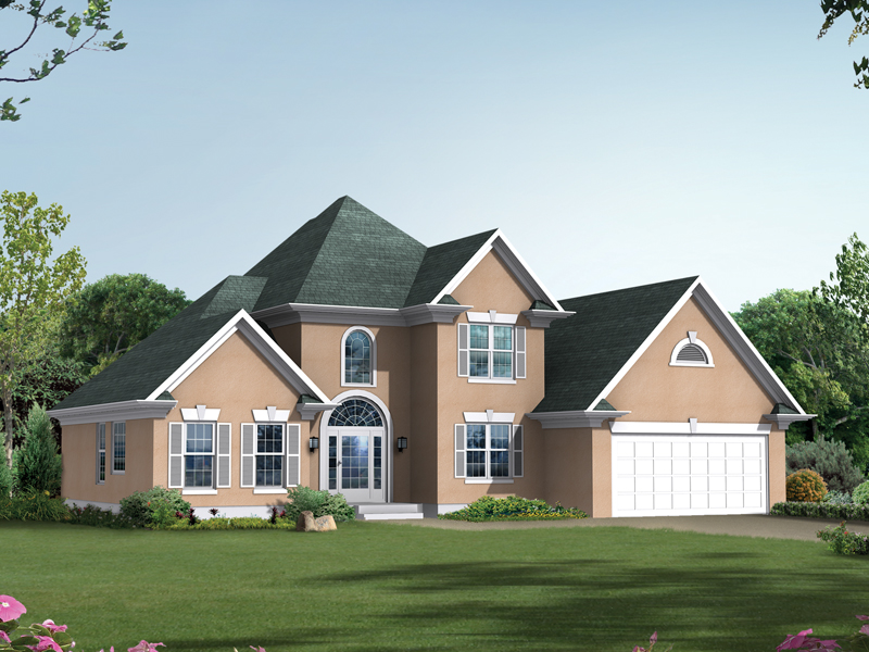 Florida House Plan Front of Home 010D-0001
