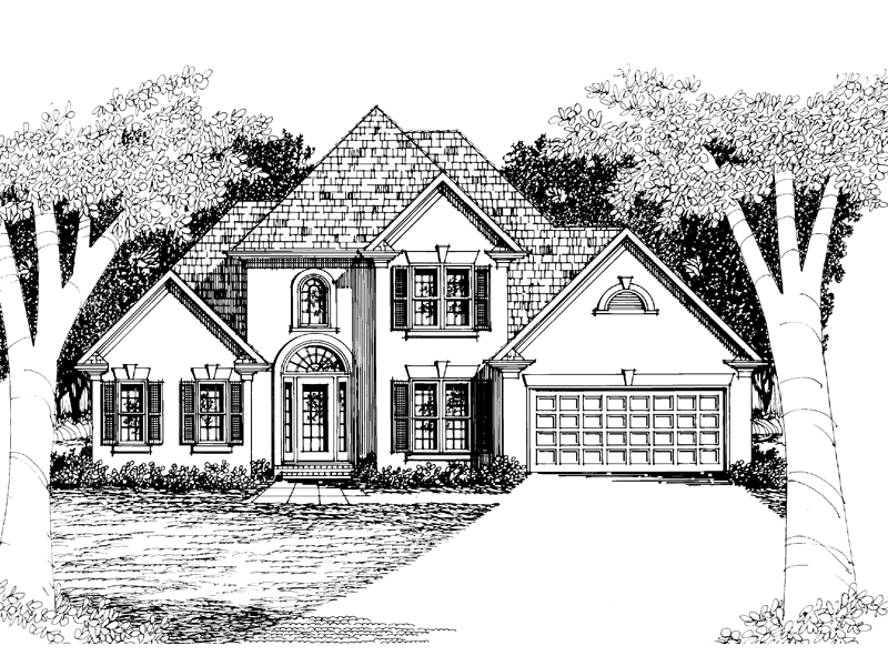 Traditional House Plan Front Image of House - 010D-0001 | House Plans and More