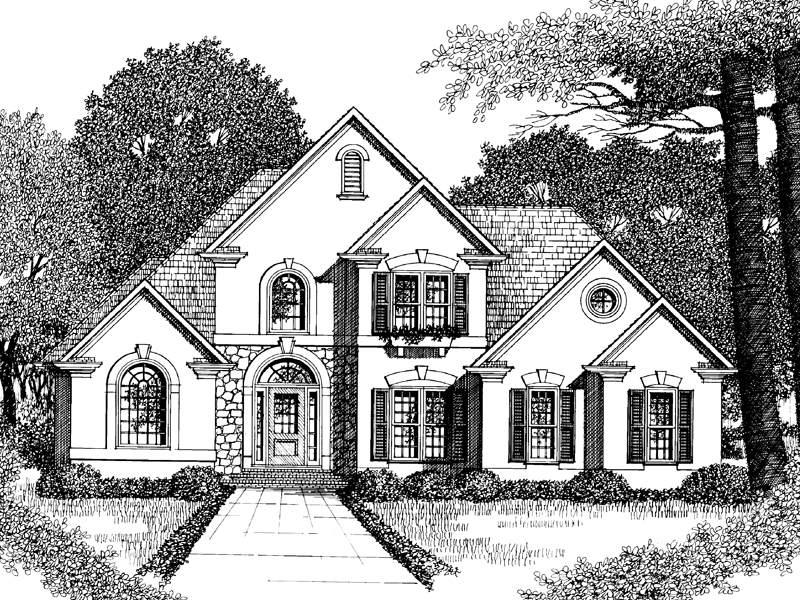 Sunbelt Home Plan Front Image of House - 010D-0002 | House Plans and More