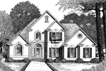 European House Plan Front Image of House - 010D-0002 | House Plans and More
