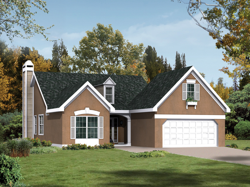 Ranch House Plan Front of Home 010D-0003