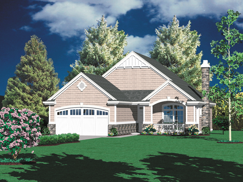 Ranch House Plan Front Photo 02 - 011D-0001 | House Plans and More