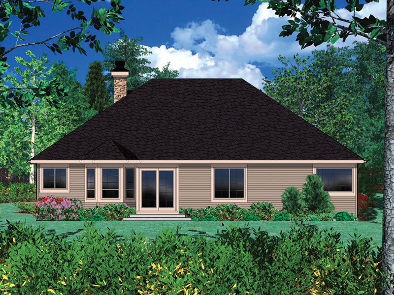 Craftsman House Plan Rear Photo 01 - 011D-0003 | House Plans and More