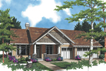 Arts & Crafts House Plan Front Image - 011D-0004 | House Plans and More