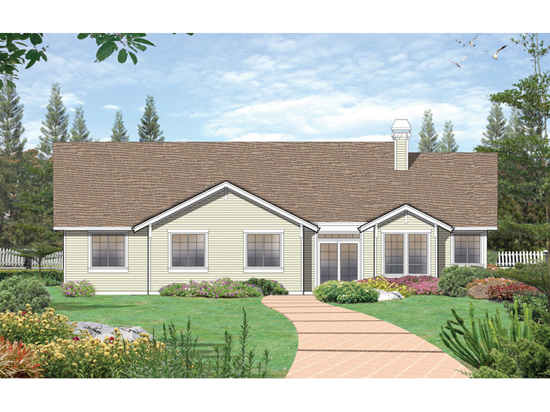 Traditional House Plan Rear Photo 01 - 011D-0004   House Plans and More