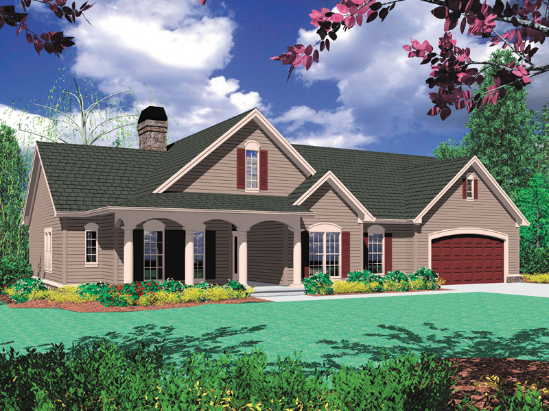 Country French Home Plan Front Image 011D-0006