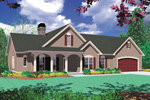 Country French Home Plan Front Image - 011D-0006 | House Plans and More