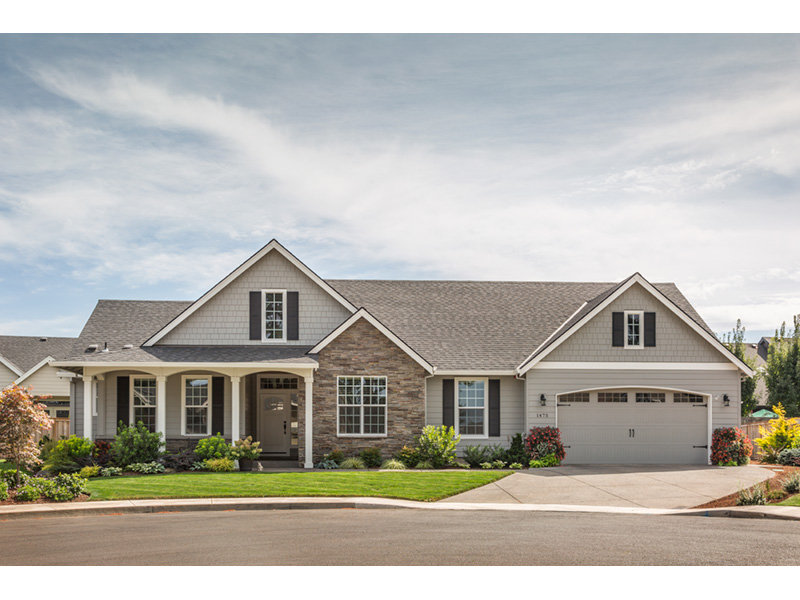 Country French Home Plan Front of Home 011D-0006