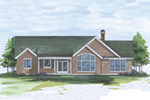 Arts & Crafts House Plan Rear Photo 01 - 011D-0006 | House Plans and More