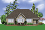 Shingle House Plan Rear Photo 01 - 011D-0008   House Plans and More