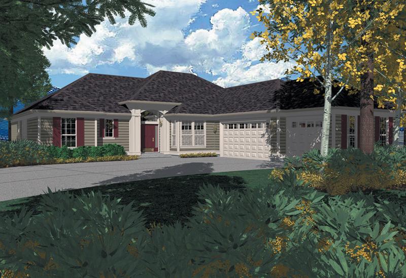 Alluring Sunbelt Home With Side Loading Garages