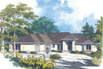 Ranch House Plan Front Image - 011D-0012   House Plans and More