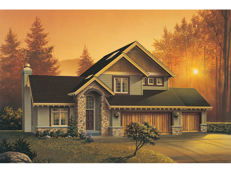 Craftsman House Plan Front Image - 011D-0015 | House Plans and More