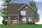 Traditional House Plan Rear Photo 01 - 011D-0018 | House Plans and More
