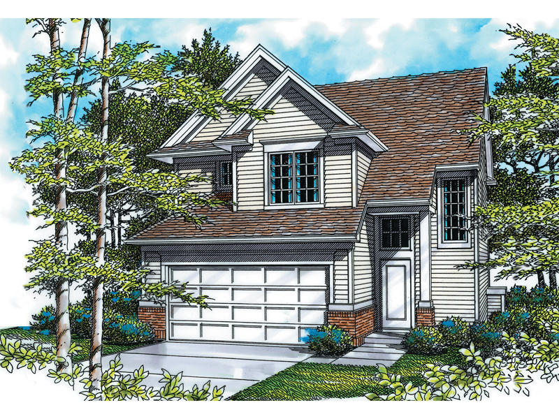 Craftsman House Plan Front Image - 011D-0021 | House Plans and More