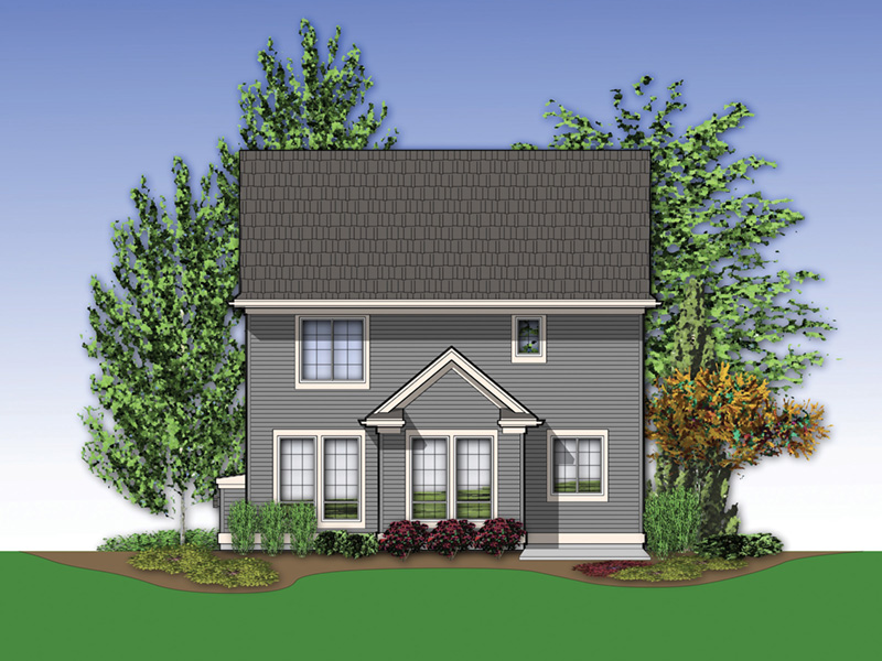 Craftsman House Plan Rear Photo 01 - 011D-0021 | House Plans and More