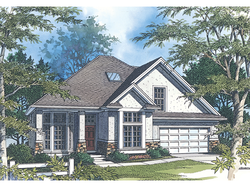 Traditional House Plan Front Image 011D-0030