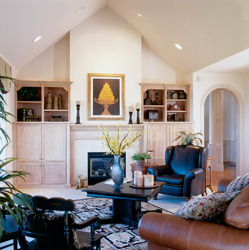 English Tudor House Plan Great Room Photo 01 011D-0032